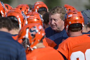 John Desko's squad is scheduled to play its alumni game on Saturday. He spoke about his Syracuse squad on Tuesday.